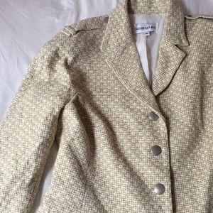 Bloomingdale's Blazer in Yellow, Brown & White